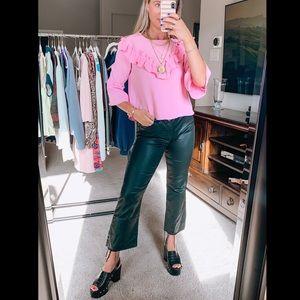 Zara Pink Ruffle Blouse
